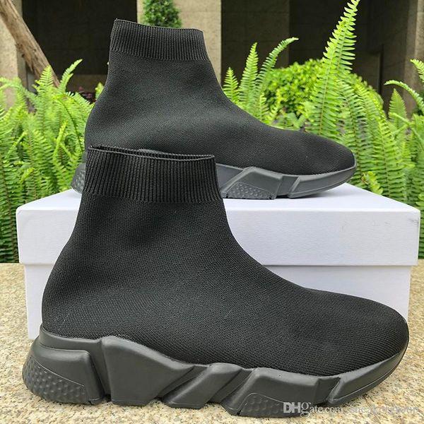 2019 Мужчины Женщины Носок Ботинки Скорости Трейнер Орео Черный Белый Любовник Вечеринку Роскошные Мода Высокое Свободного Покроя Обувь Дизайнер Кроссовки 36-45