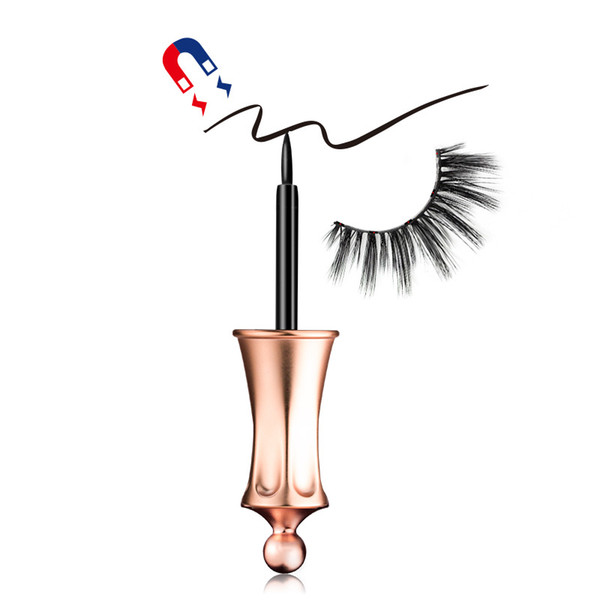 2019 New Magnetic Liquid Eyeliner Easy To Wear Strong Suction Magnetic Eyelash Special Eyeliner False Eyelash Assistant Eyeliner 4ML