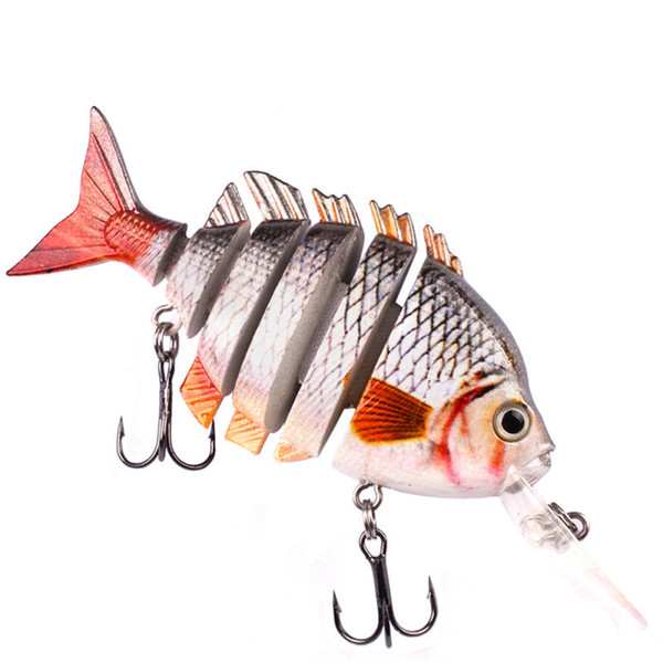 1x Fishing Lure Bait Swimbait Crankbait Tackle 10cm 14g Multi Jointed 6 Segment