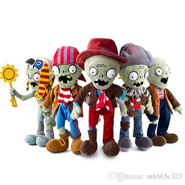 Plants vs Zombies PVZ Zombies Stuffed Plush Toys PVZ Soft Plush Toy Doll Game Figure Statue Toys for Kids Gifts
