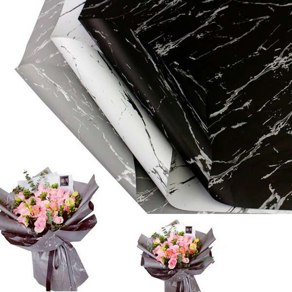 150PC Marble Pattern Wrapping Paper Handmade DIY Scrapbook Decorative Crafts Paper Birthday Gift Bouquet Wrapping Paper 60*60CM