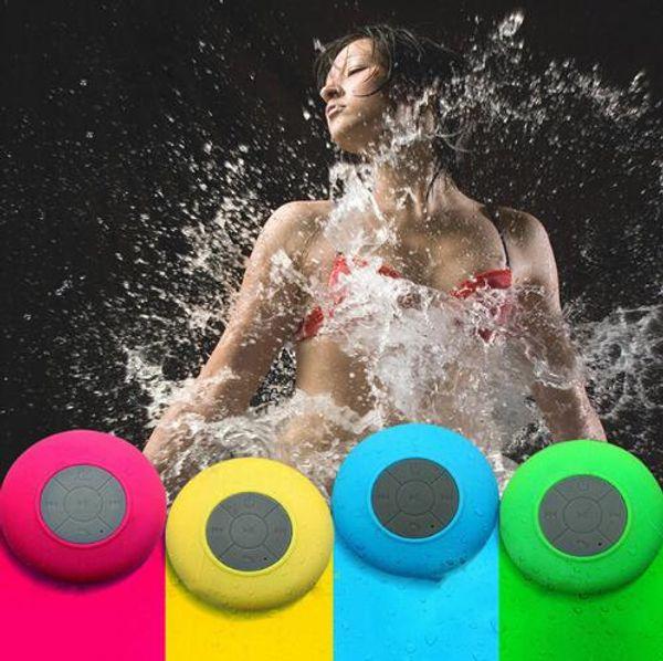 Su geçirmez Mini Bluetooth Hoparlör 5 Renkler Taşınabilir Duş Subwoofer Kablosuz Emmek Hands-Free Hoparlörler ile Yenilik Öğeleri OOA6646