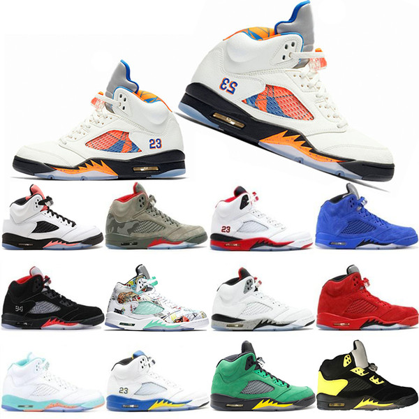 New Classic 5 5s Mens Basketball Shoes Wings Fresh Prince PSG Black White Camo Grey Laney Oreo Designer Shoe Sports Men Trainers Sneakers