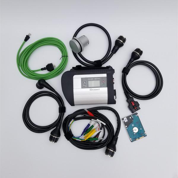 A +++ Quality MB star C4 sd connect Compact 4 с функцией WIFI V2019.03 программное обеспечение hdd или ssd для диагностики легковых и грузовых автомобилей mb