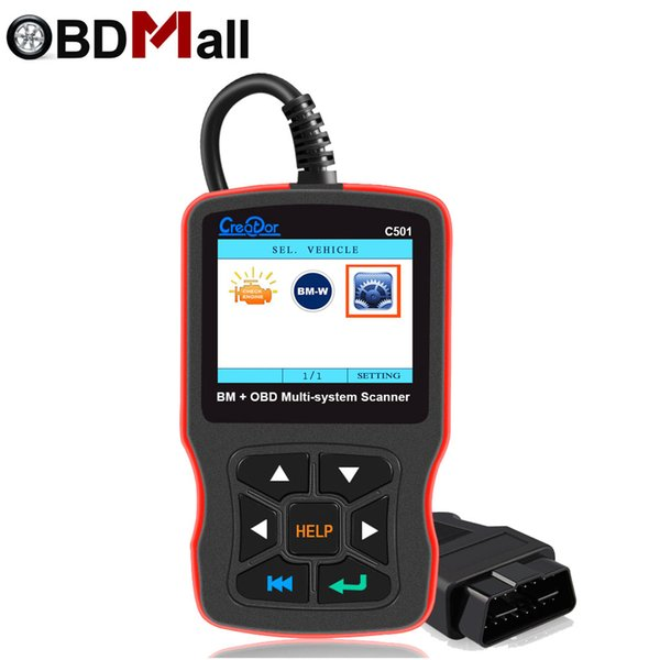 Creator C501 for BMW OBD2 Diagnostics Auto Scanner Full System Scanner OBD II EOBD Functions Diagnostic Tool for BMW E46 E39 E90