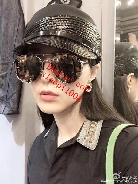 Women Brand Popular Fashion Sonnenbrillen Sonnenbrillen mit rundem Rahmen Vintage silver frame sun visor Sonnenbrille der Marke der Frauen