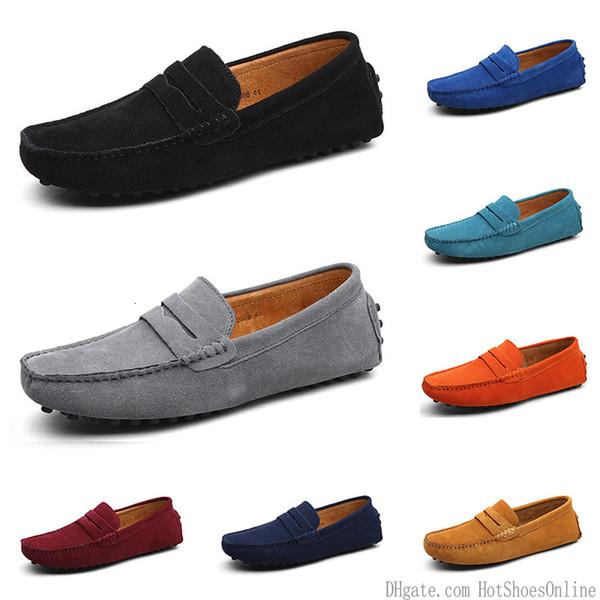 2020 nuevos hombres de los zapatos ocasionales Alpargatas Triple Negro Blanco Marrón Vino marino Rojo color caqui para hombre zapatillas de deporte al aire libre para correr a pie de color # 7