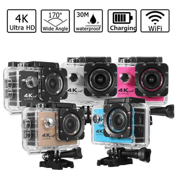 Haute qualité F60R 170º HD objectif grand angle WIFI en plein air aventure Sport caméra Deportiva Casque Cam 30 M sous l'eau étanche 2.0 'LTPS LCD