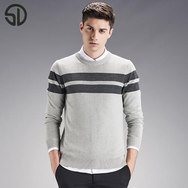 MUJU0087 новая Осень Зима причинно-следственной моды свитер мужчин пуловеры трикотаж О-образным вырезом бесплатная доставка сделано в Китае