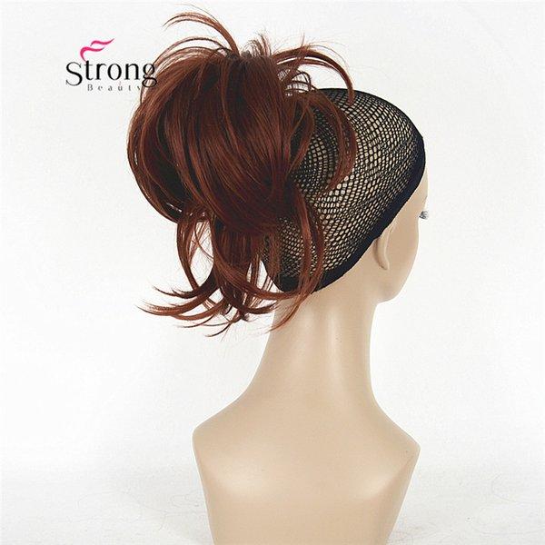 12 дюймов регулируемое наращивание волос в виде беспорядочного хвоста из синтетического волоса с челюстным когтем ВЫБОР ЦВЕТА