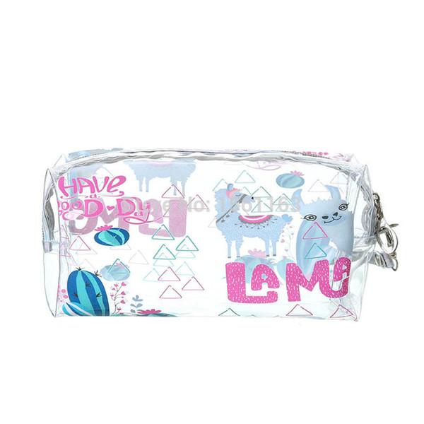 PVC Şeffaf Diş Fırçası Kozmetik Çantası Kadın Seyahat Makyaj Çantası Organizatör Depolama Kozmetik Durumda