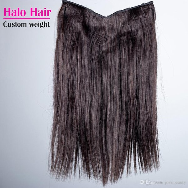 Halo Флип В Наращивание волос человека бразильская Straight Natural Color 100г 120г 140г 160г 24-30 ОПП дюйма Halo Богородица человеческих волос