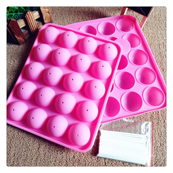 Cake Stick Mould Silicone Bakeware Tray Lollipop Party Cupcake Baking Mold Pink Kids Themed Parties Hens Nights Birthday Kitchen