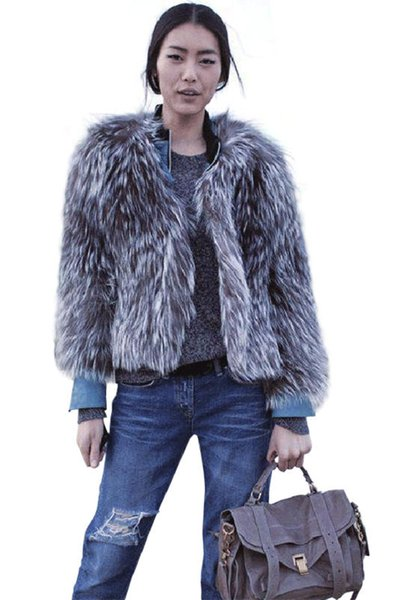 hair raccoon hair New Style Fashion Sexy Women Winter Warm faux Fur Coat Christmas pub Body Con Celebrity Coats Wholesale