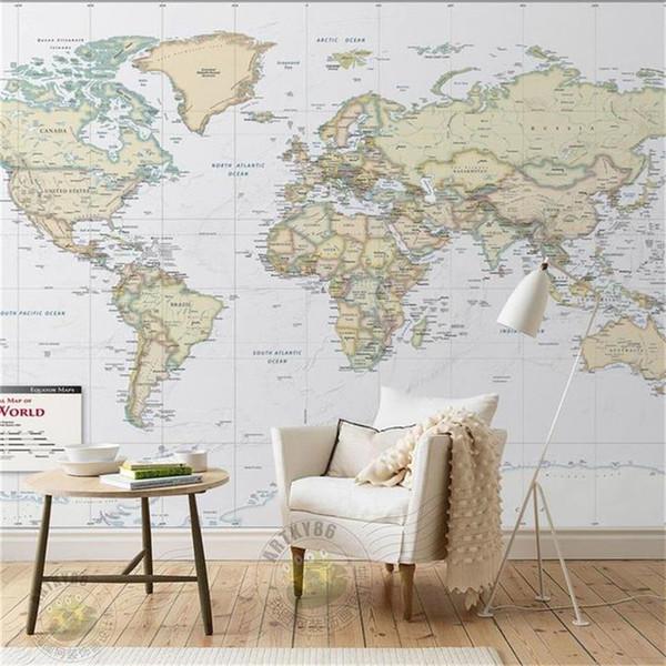 formato personalizzato 3d foto carta da parati soggiorno camera da letto camera dei bambini murale colore mappa del mondo 3d foto divano TV sfondo carta da parati non tessuto adesivo