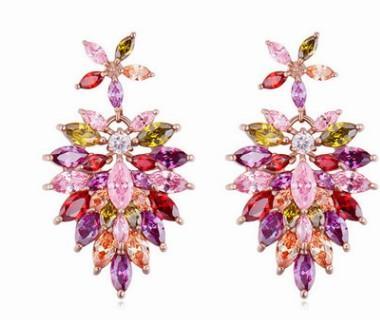 2 paris low price high quality wholesale chaming Crystal diamon tassels 925 silver lady's earings (j31.93uyu