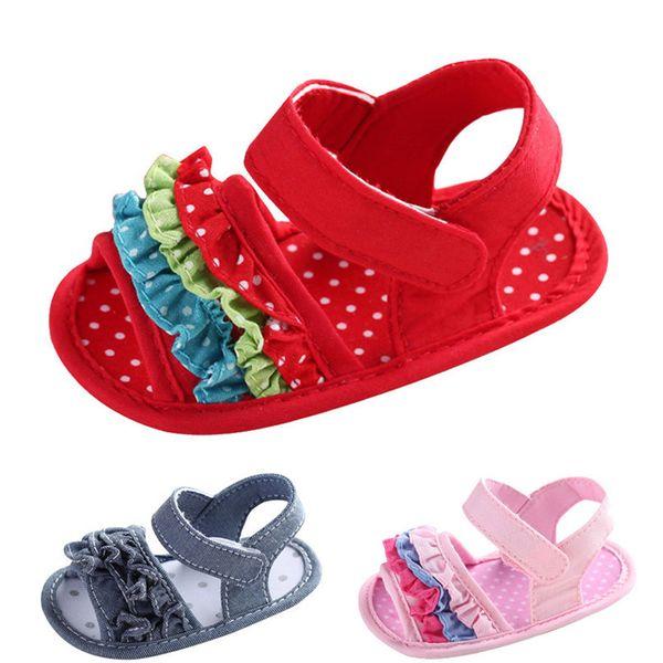Summer Baby Girl Sandals Toddler Newborn Baby Girl Crib Flower Soft Sole Anti-slip Sneakers Canvas Sandals NDA84L25