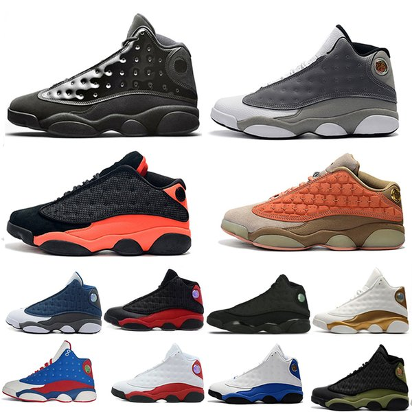 13 13s Cap and Gown Mens Basketball Shoes Atmosphere Grey Terracotta Blush Chicago Cat Black Infrared Flints Bred DMP for men sport sneakers