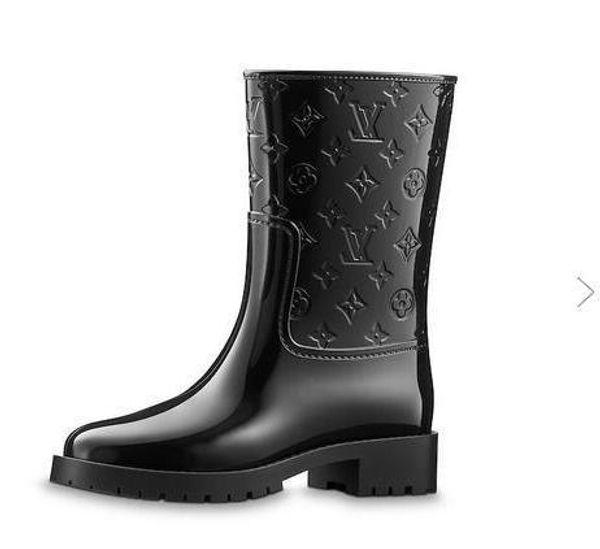 Nova placa 1A3CUJ Botte Drops Mulheres Bota de Equitação Chuva BOTAS BONECOS SNEAKERS sapatos de Salto Alto Bombas Lolita Vestido