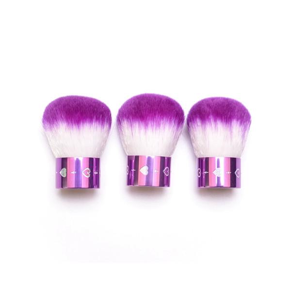 Cepillo de rubor de champiñones Cepillos de cosméticos en forma de champiñones con Diamand Portable Face Powder Foundation Brushes Beauty Tool GGA1915