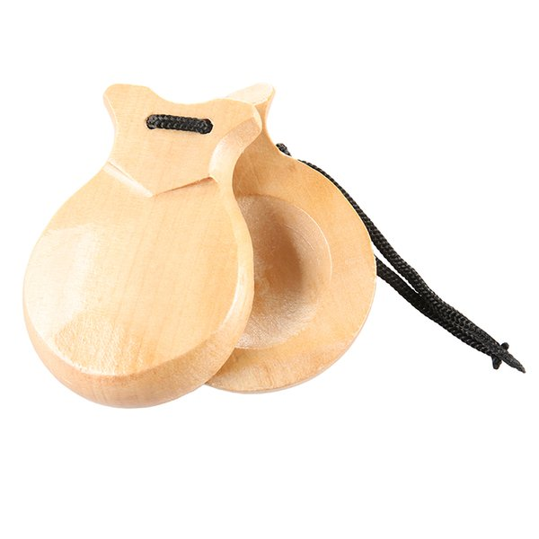 top popular Spanish natural hard solid wood wooden castanets 2021