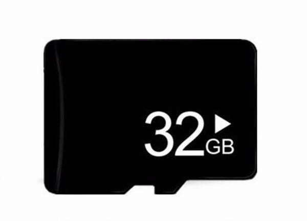 Cep telefonu kartı Gerçek 32 GB microSD micro SD hafıza kartı TF kart Tam kapasite telefon kamera için 32 GB G w adaptörü
