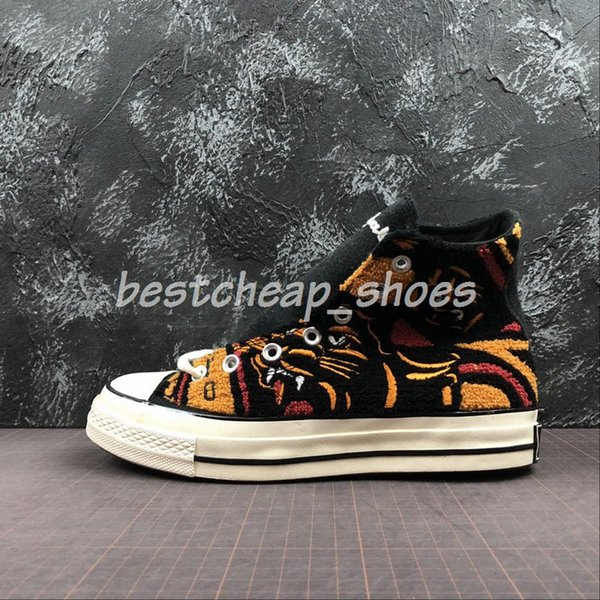 0ee8fde57482 UNDEFEATED x CHUCK 70 HI Leopard tiger 70s ox White All Casual Canvas Shoes  1970s Mens