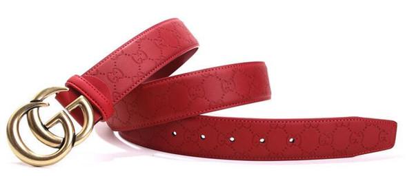 Nuevo estilo para hombre Cinturón de las mujeres Cinturón de cintura Moda Pin Hebilla Cinturones Negro Negocios Caballero cinturones de regalo