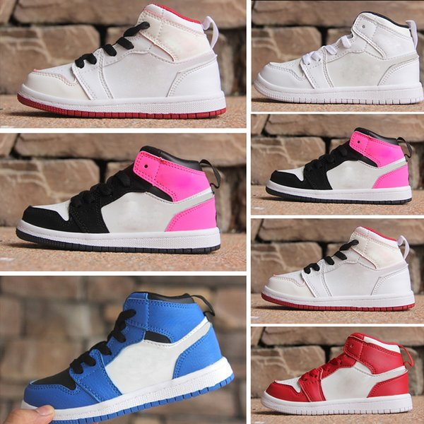 Children shoes 1s cheap store Top Quality kids Basketball shoes Wholesale price free shipping sales US10.5C-US3Y