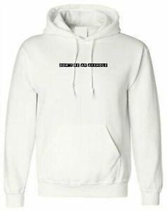 Don 039 t bir delik olmak Komik Kaba SarcaShort-Sleeve Hoodie Tee Gömlek Bayan Erkek Hediye Xmas