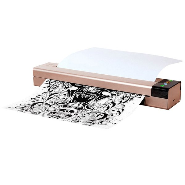 Los tatuajes puerto USB de la máquina impresora de transferencia térmica Dibujo copiadora fabricante de la plantilla para la transferencia del tatuaje del papel de copiadora impresora