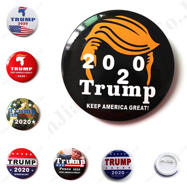 Trump 2020 Seçim Promosyon Broş Rozet ABD Başkanlık Madalyası Trump Madalya Kalay Seçim Göğüs dekorları iğneler Noel Partisi Hediye C103002