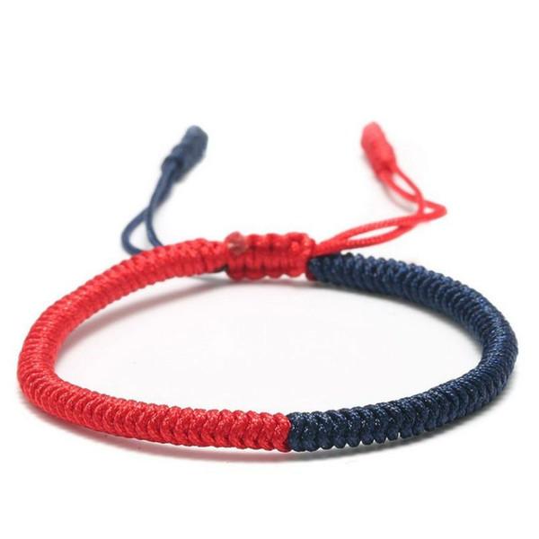 Neue bunte Regenbogen-Farben-Mischung Braid Armbänder Frauen Mädchen Schmuck-Geschenk DIY-Charme-handgemachte Seil-Armbänder
