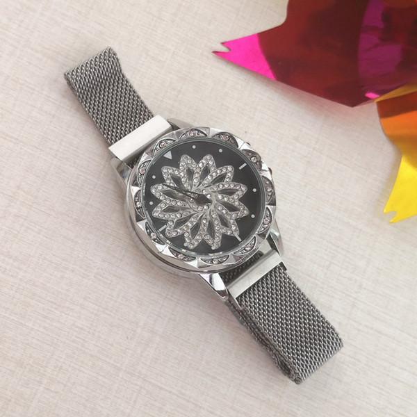 Custodia in cristallo, cinturino in metallo, fermagli magnetici, quadrante girevole, orologi Gerryda fashion lady, G1901