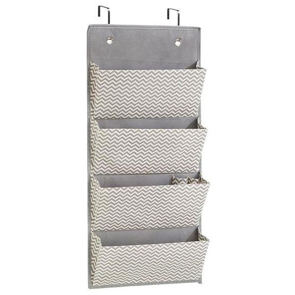 4 Layers Closet Hanging Storage Bag Door Wall Wardrobe Nonwoven Organizer for Kitchen Bedroom Bathroom Home