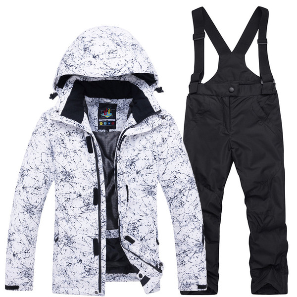 Teenage Children's Winter Ski Suit Thick Warm Waterproof Windproof Girls Clothing Set Boys Outdoor Cotton Sports Clothes