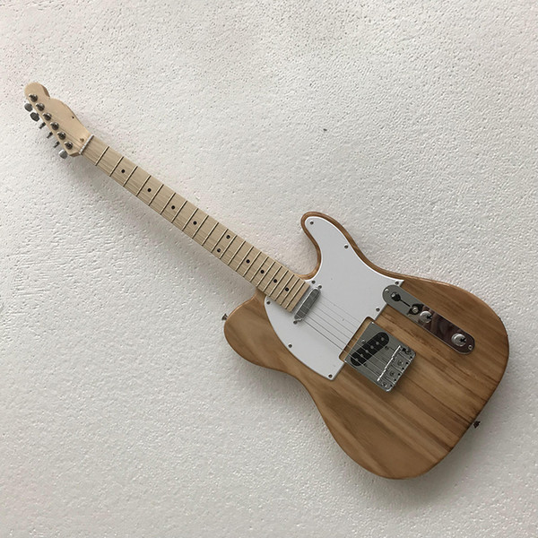 Factory custom 2019 new 39 inch wooden paulownia color electric guitar TELE silver closed string chord silver pickup closed, custom color mi