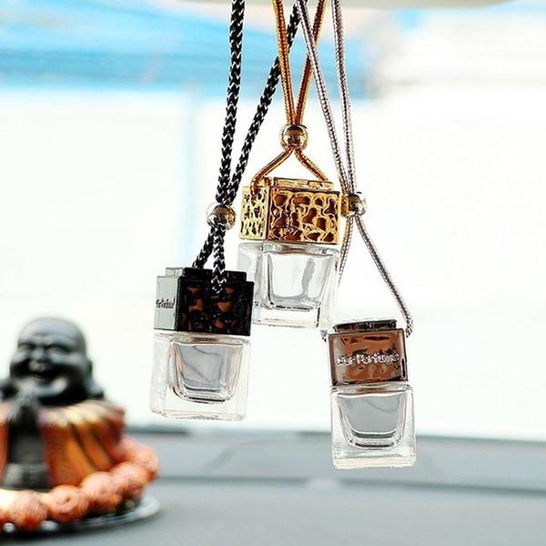 Vente chaude Parfum portable Mini auto voiture Voyage stockage bouteilles Pendentif Bouteille en verre suspendu Ornement Décoration Rechargeables