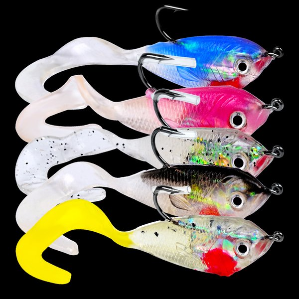 "lure 10pc Hot Soft Lures 2"" length fishing lure 5g weight bait with 1 hook Soft bait Top Quality fishing tackle"