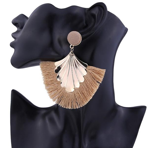 Balmora borla cuelga los pendientes de gota para las mujeres señora pendientes exagerados joyería de moda de moda regalos del partido brincos bKE6653
