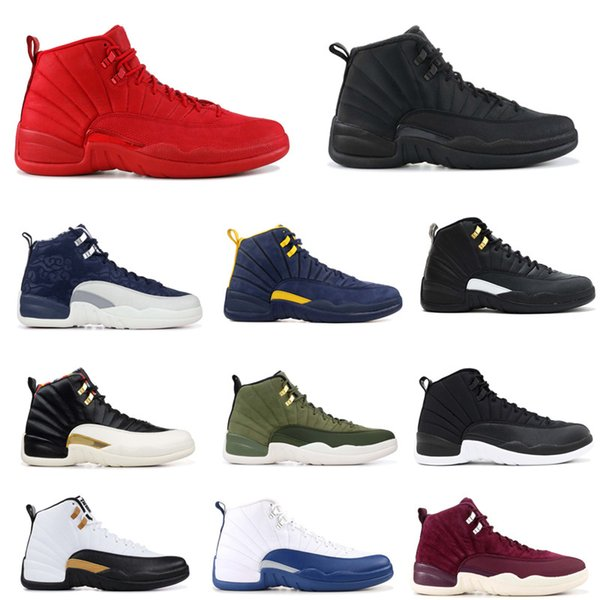 2019 12 Gym Red Basketball Shoes Vachetta Tan Wings International Flight Michigan Taxi Men Designer Sport Shoe The Master Sneaker With Box