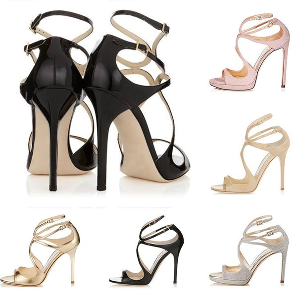 Jimmy choo Frauen Designer Sandalen So Kate Styles Fashion Luxus Mädchen High Heels 10CM 12CM LANCE Schwarz Rosa Weiß Gold Silber Leder Punktgröße 35-42