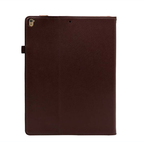 Classic Genuine Leather Tablet Case For iPad 12.9 2018 AIR 5 9.7 10.5 with Stand Shockproof Real Leather Tablet Case