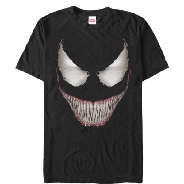Marvel Venom 2018 Halloween T Shirt 2018 Grin Mens Graphic T Shirt USA  Print Casual male tshirt men tops tees Free shipping tees