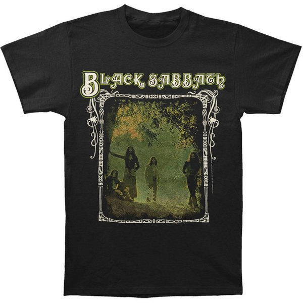 Black Sabbath Men's Photo Framed T-Shirt Large Black Das neue Kurzarm-T-Shirt Funny Print Men Short Sleeves