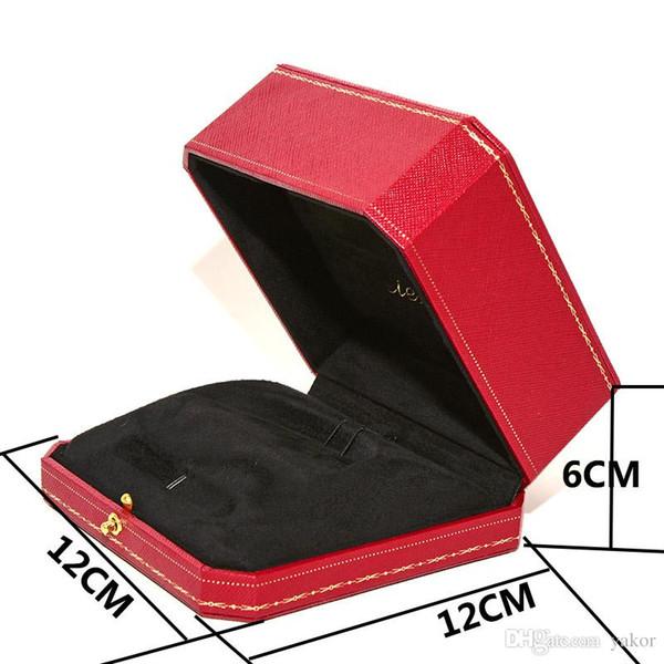 НОВЫЙ Бесплатная доставка Высокое качество Красный Оригинальный Браслет Коробки для Женщин Мужские Свадебные Украшения Браслет розничная Упаковка Коробка