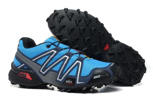 Marca uscita UK Solomons Speedcross 3 CS Trail Casual Shoes donne Leggero Sneakers Navy Solomon III Zapatos impermeabile Athletic Shoe S10