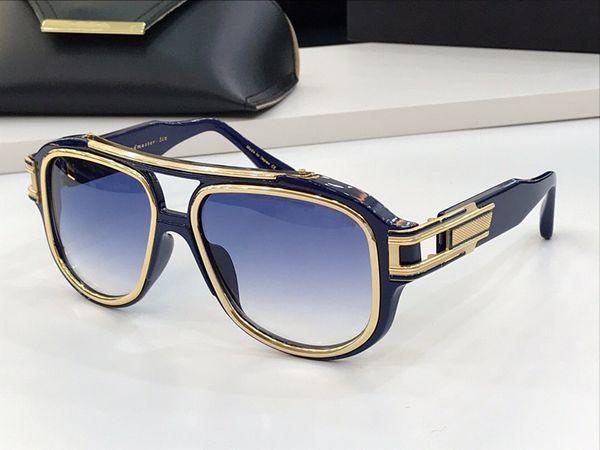 gradiente ouro azul lente azul