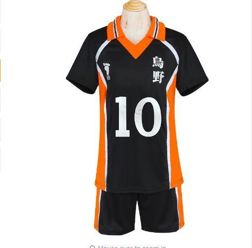 Haikyuu Karasuno Hohe Teamuniform Shouyou Hinata Cosplay Volleyball Trikots Japanische Schuluniform Volleyball Club Trikots Uniform