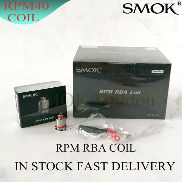 100% della piattaforma originale SMOK RPM RBA Coil ricostruibile Coil con Built-in fai da te 0.6ohm RPM40 RBA bobina per RPM40 Mod Pod Kit
